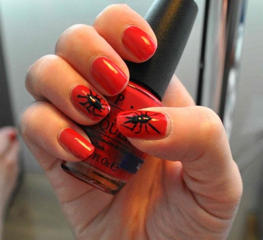Halloween Nail Designs Short Nails Red Pictures Photos Images