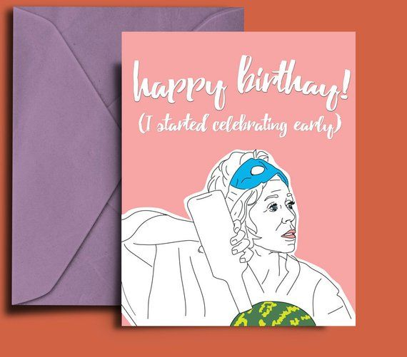 Grace And Frankie Digital Download Printable Birthday Card Netflix Jane Fonda Funny Watermelon Vodka