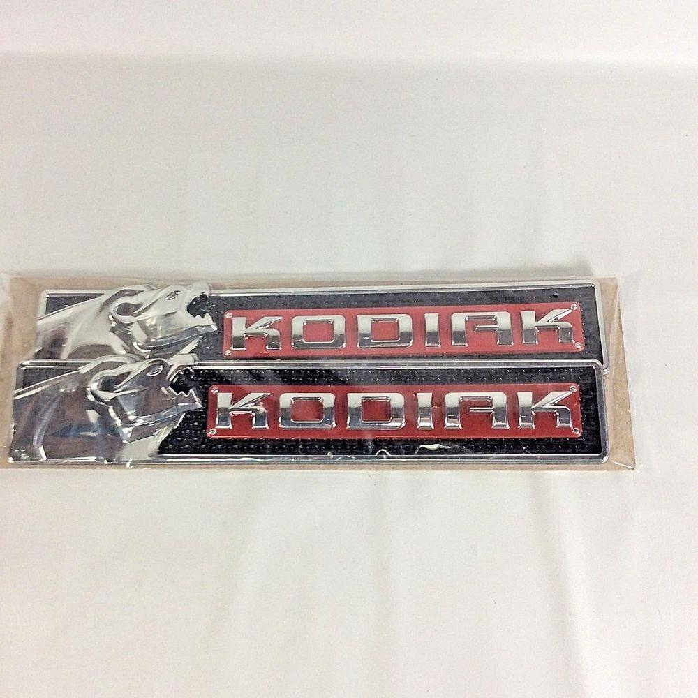 Genuine Gmc Chevy Sierra Kodiak Edition Side Emblems Kit 070315b