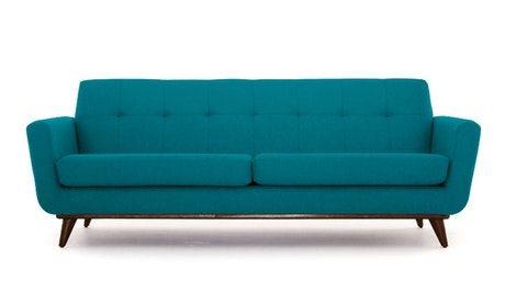 Joybird Teal Color Hughes Sofa Furniture