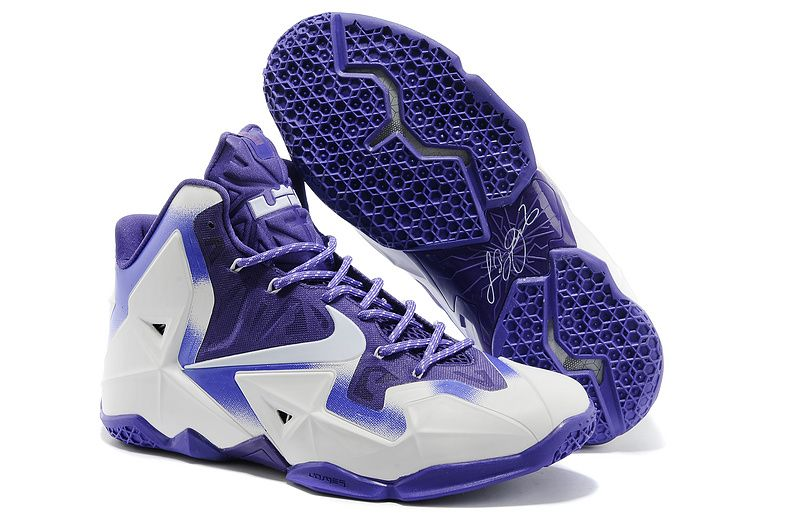 Buy Electric Purple White Nike LeBron 11 For Wholesale