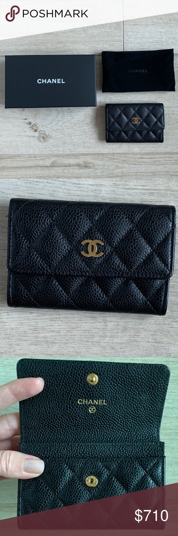 e6d78338471a CHANEL credit card holder (with dust bag and box) Credit card holder Pre  owned Luxury item Chanel box and authenticity card (with receipt!) included  ...
