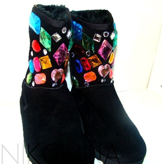 ce6984a4748 Super Glamorous and Girly Colorful Rainbow Bling UGG Boots #ugg ...