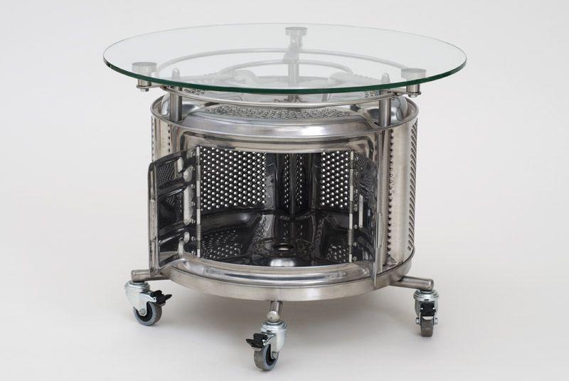 Exceptional Table Basse Machine A Laver Une Table Basse Fabriquée à Partir Dun Tambour  De Machine à