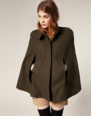b17f6f430ec9c ASOS Funnel Neck Military Cape  72.28 great jacket