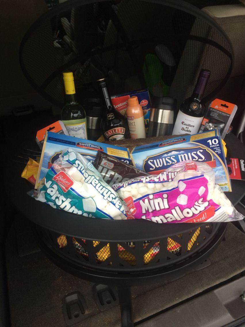 Fire pit raffle basket for the school's gala   Gala basket ...