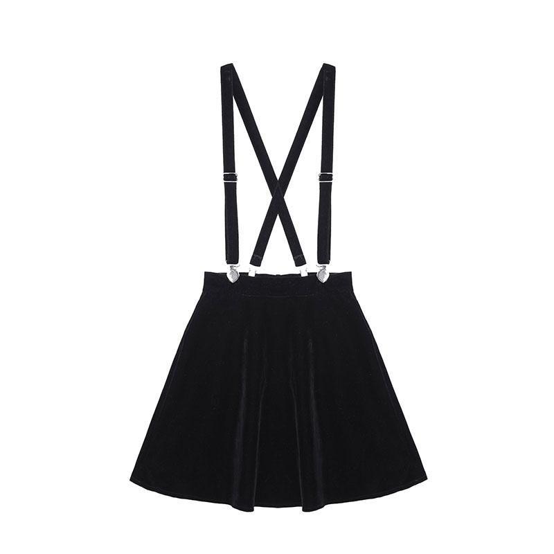 Velvet Strap Skirt