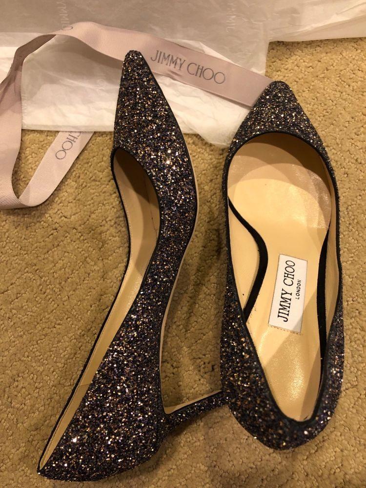 6b19cc4de69 Jimmy Choo Romy 60 - Twilight Glitzy Glitter Fabric Pointy Toe Pumps 37  EU 7 US  fashion  clothing  shoes  accessories  womensshoes  heels (ebay  link)
