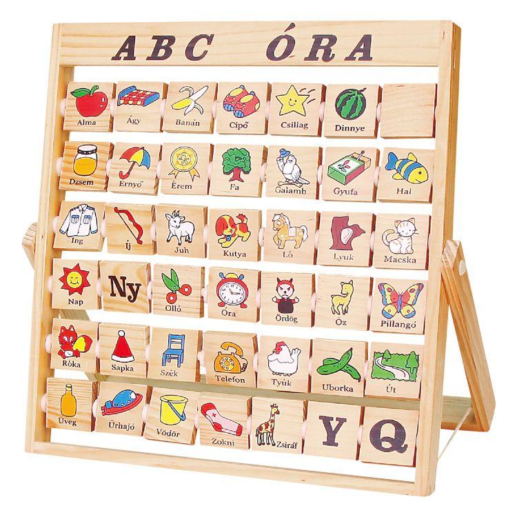 ABC óra- készségfejlesztő eszköz a betűk tanulására