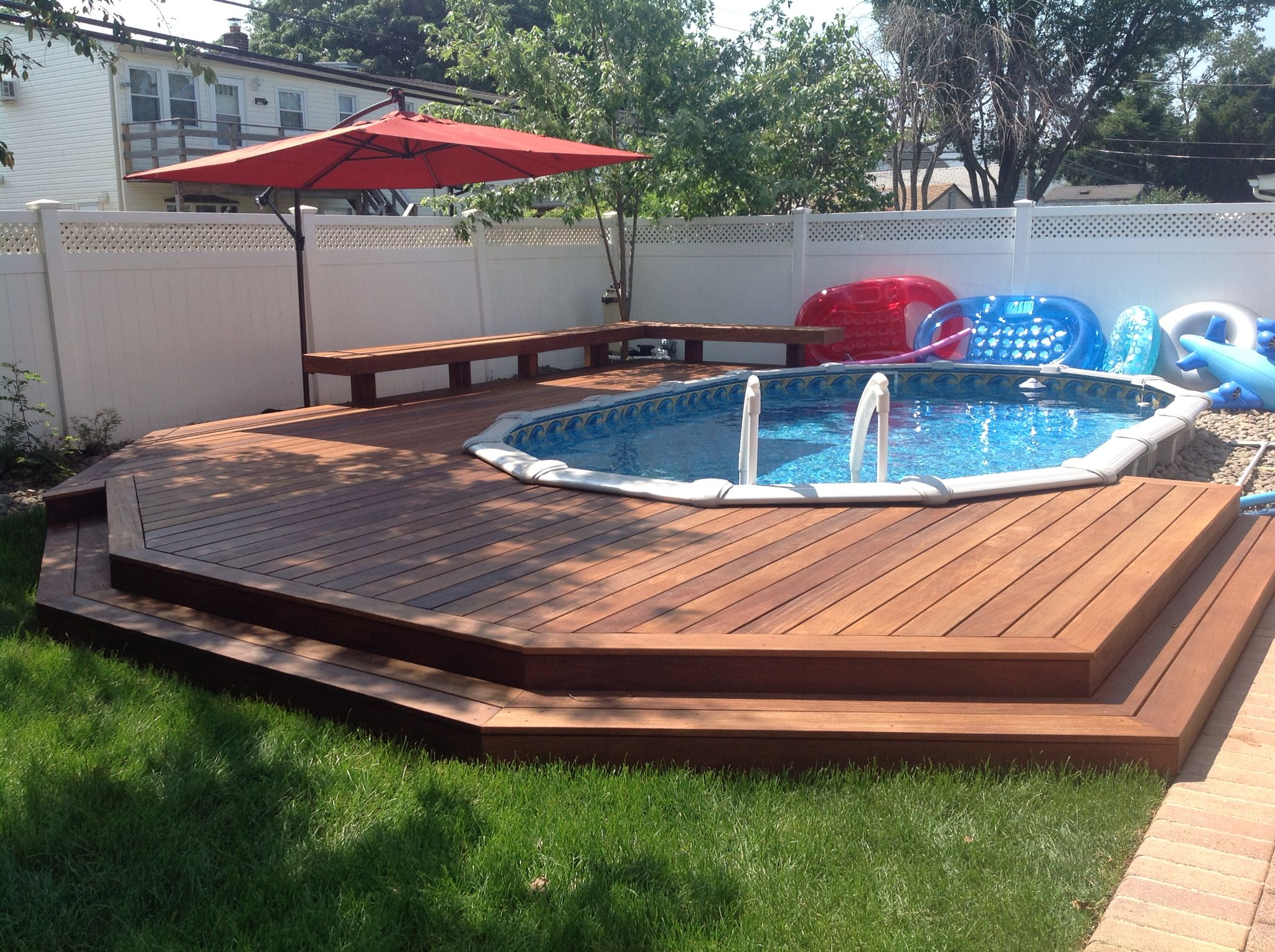 Cumaru Decking With Images Swimming Pools Backyard Small