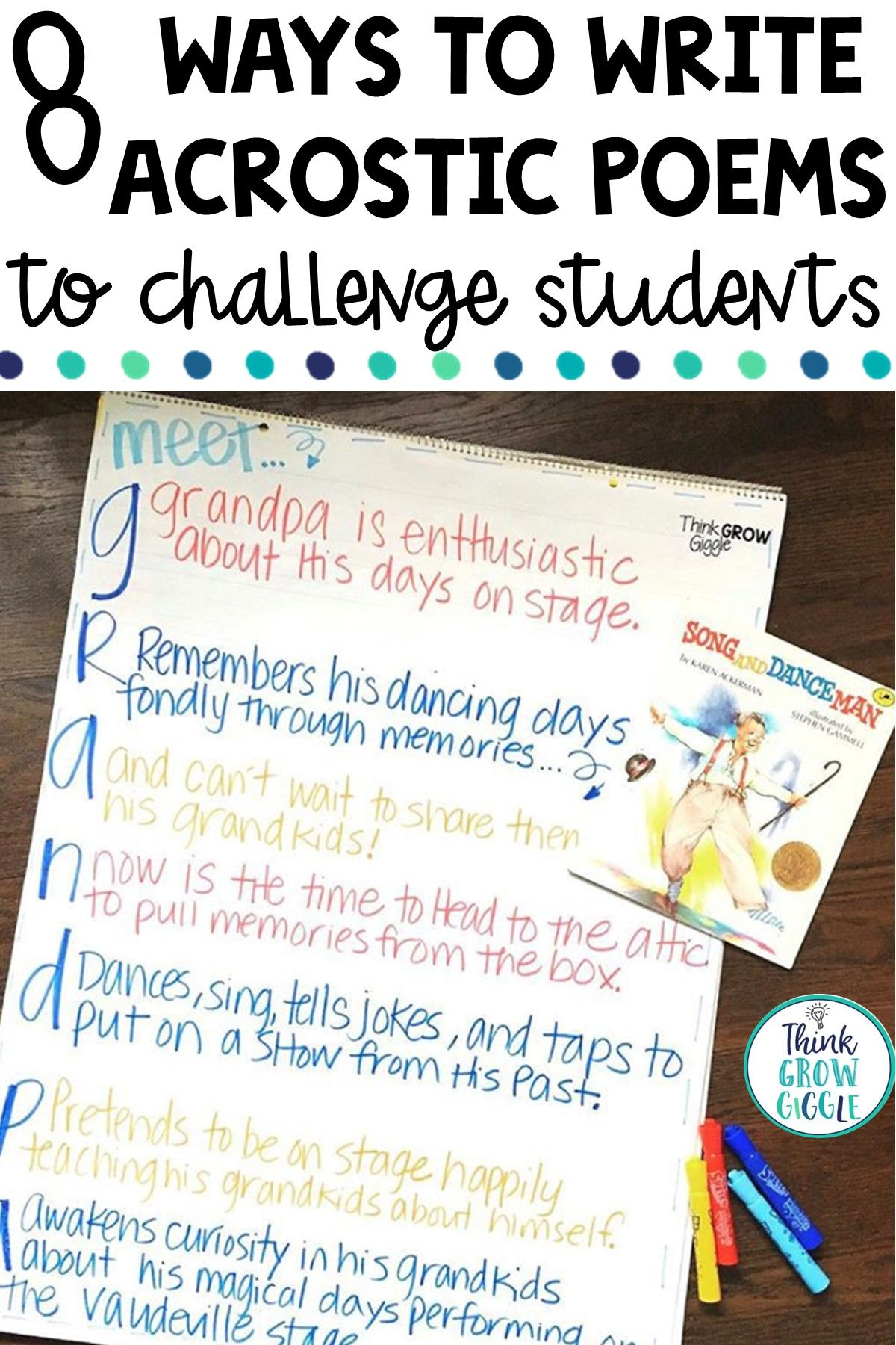 Acrostic poem templates and lesson ideas for elementary in