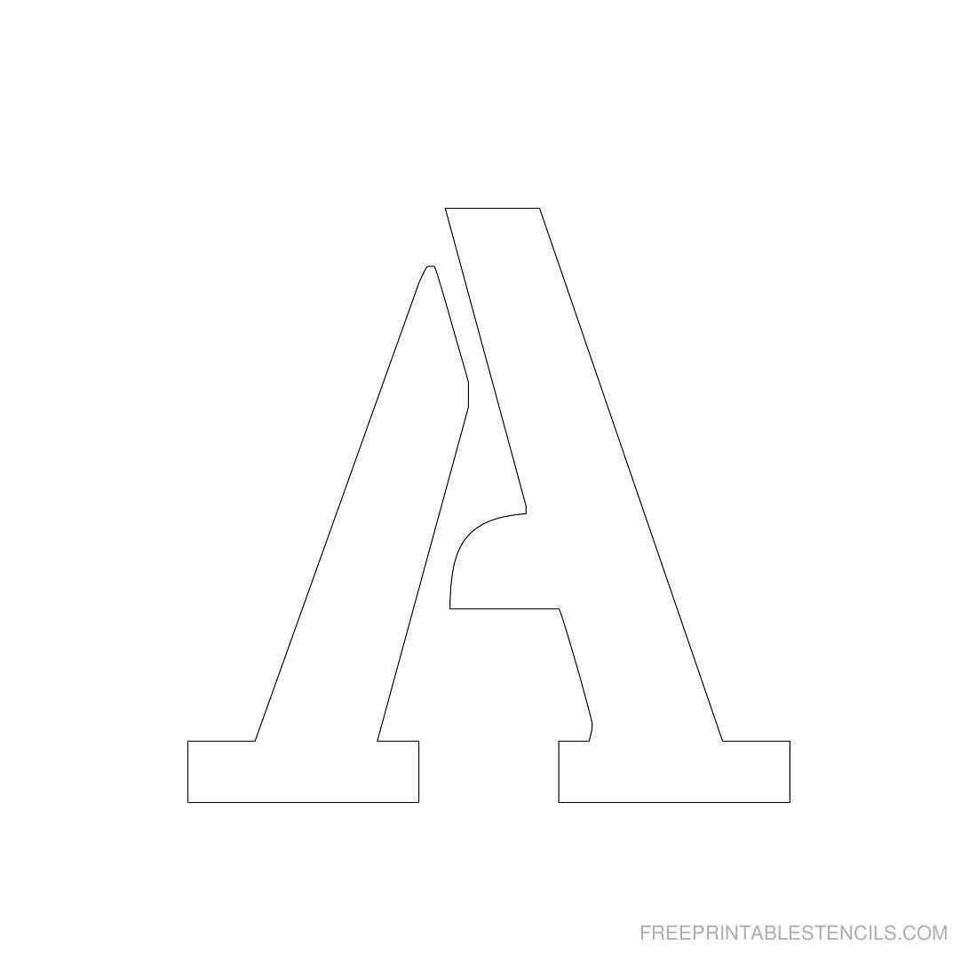 Printable 3 Inch Letter Stencil A Has Full Alphabet