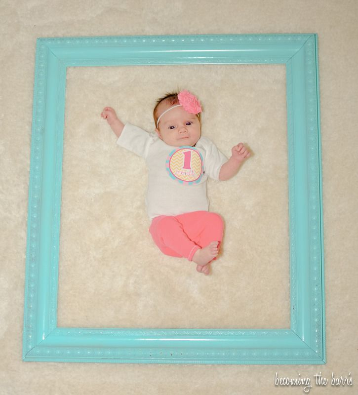 1 month old baby picture cute idea @ Amanda for miss Allie every ...