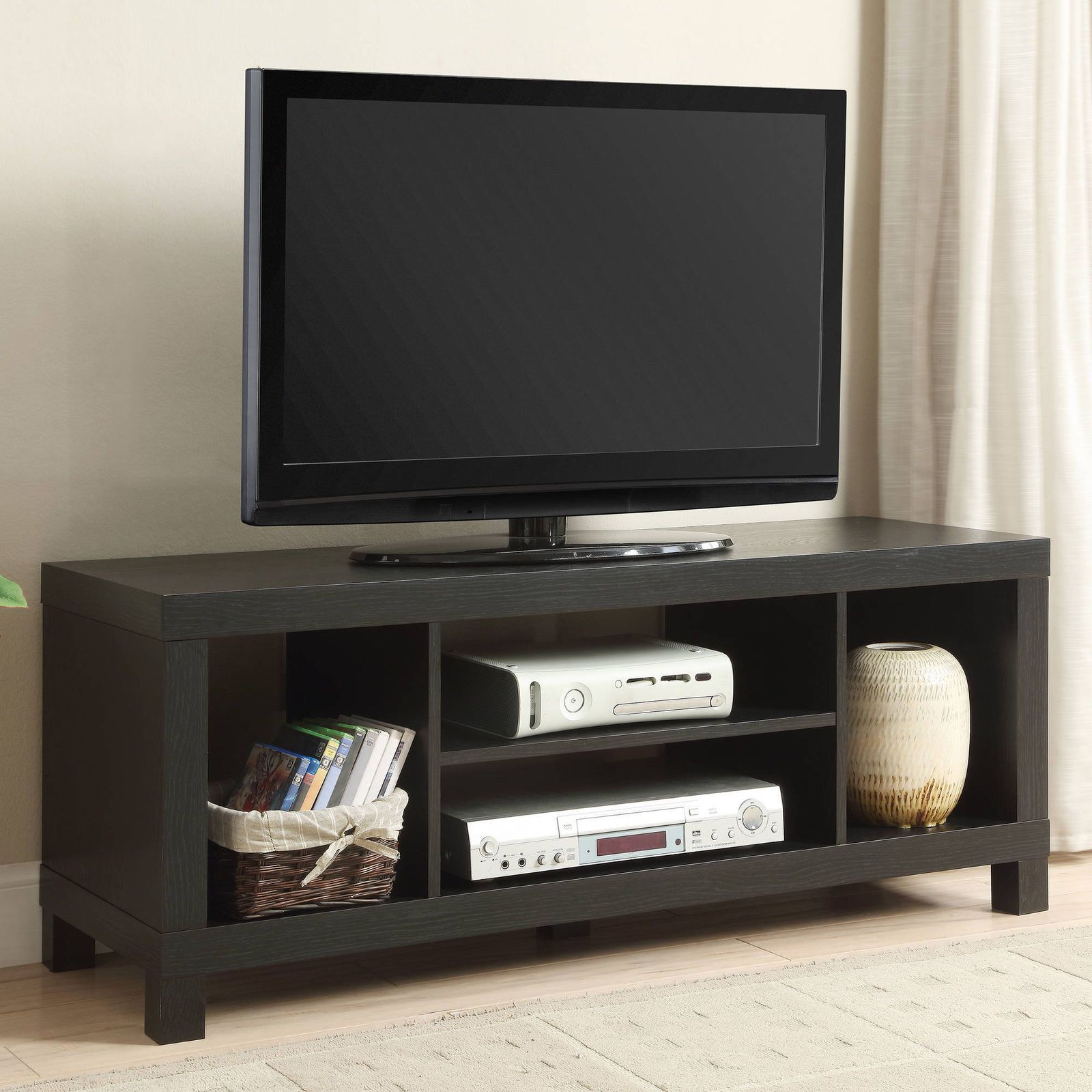 50 Flat Screen Tv Stand Wood Storage Cabinet Home Media Console