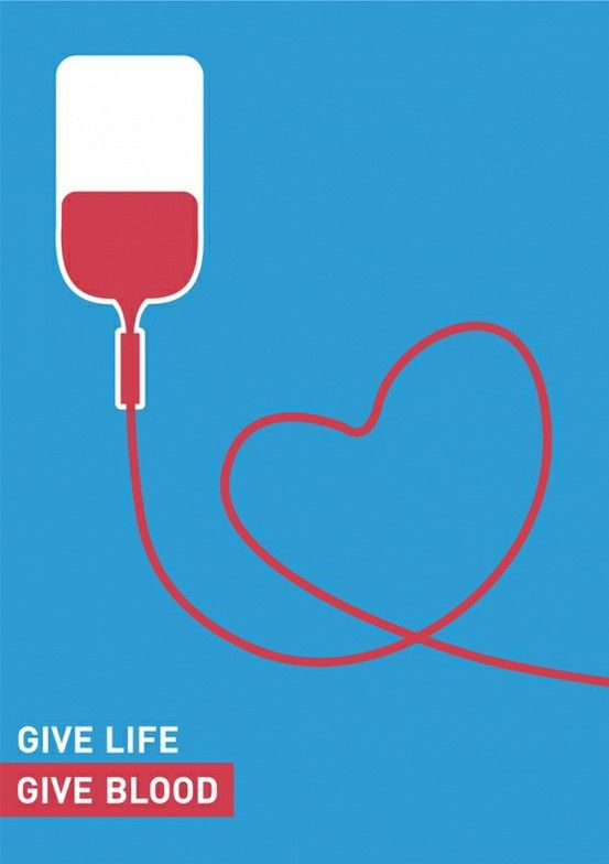 give life. give blood. - Click image to find more Design Pinterest ...