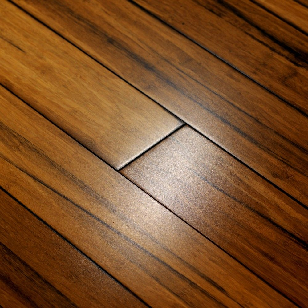 "Types Of Kitchen Flooring Ideas: 9/16"" Carbonized Patina Solid Strand Woven Bamboo"