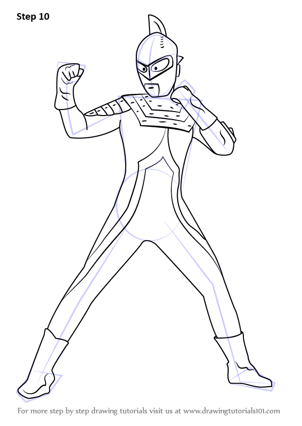 Learn How To Draw An Ultraman Seven Ultraman Step By Step Drawing Tutorials Step By Step Drawing Drawings Coloring Pages To Print