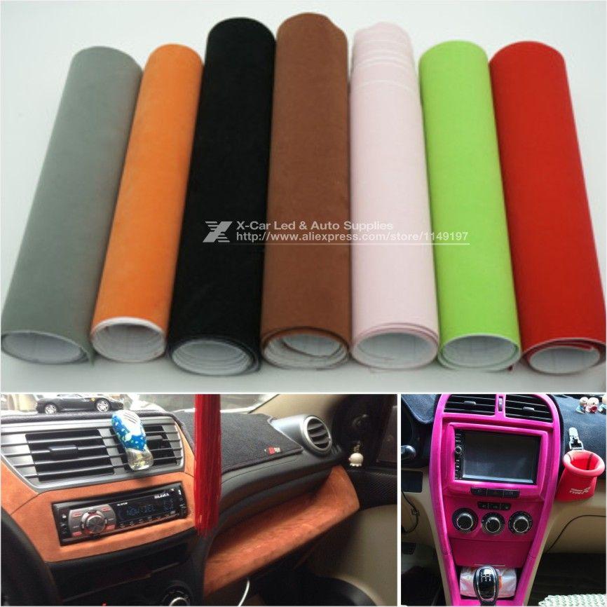 135 30cm 8 Colors Velvet Fabric Velvet Film Suede Film Car Sticker With Bubble Car Interior Sticker Car Body Car Stickers Car Interior Car Interior Upholstery