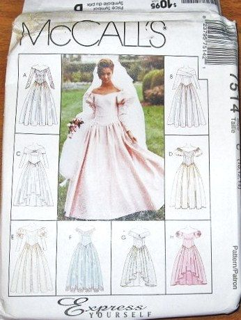 Women's Express Yourself Wedding Gown or by LetYourselfSew on Etsy, $6.00