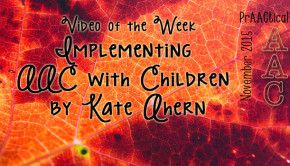 Implementing AAC with Children by Kate Ahern
