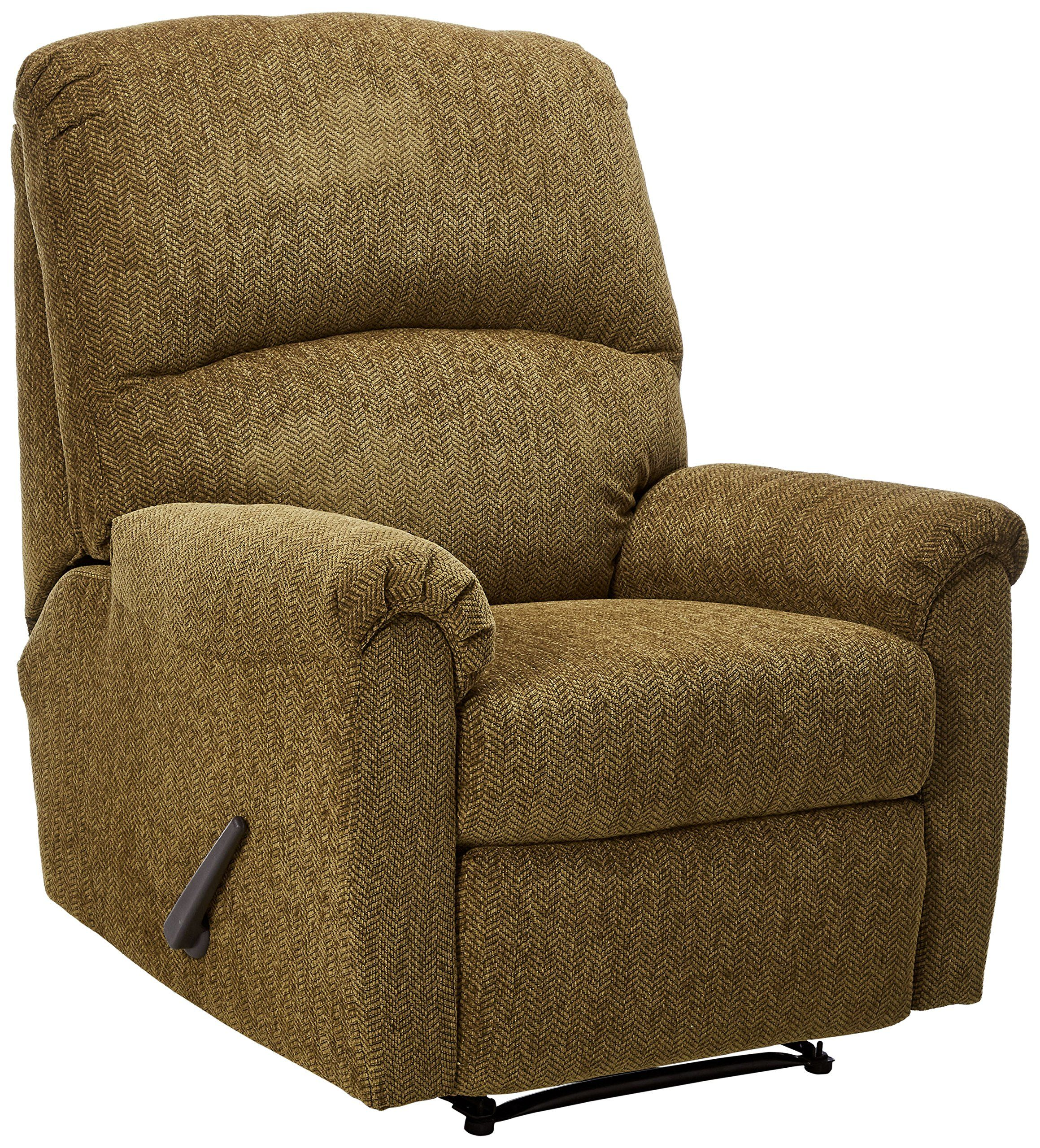 Ashley Furniture Signature Design Pranit Recliner Manual Reclining Chair  Walnut Brown ** Click Image To