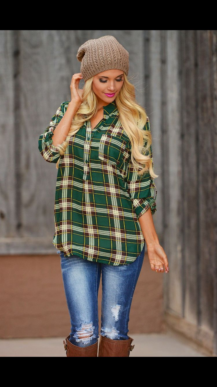 Casual flannel outfits  Pin by Selena on Dream Closet  Pinterest  Dream closets