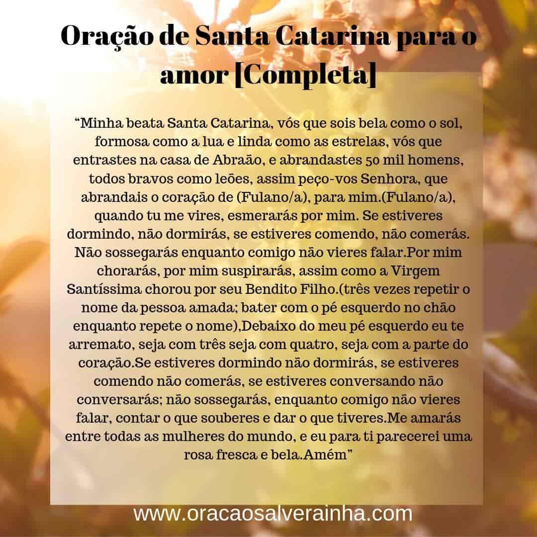 Oracao De Santa Catarina Completa E Original Em 2020 Oracao