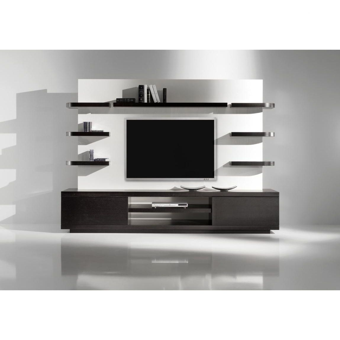 Lcd Tv Stand Designs Bangalore : Yumanmod vision single wall unit in wenge allmodern