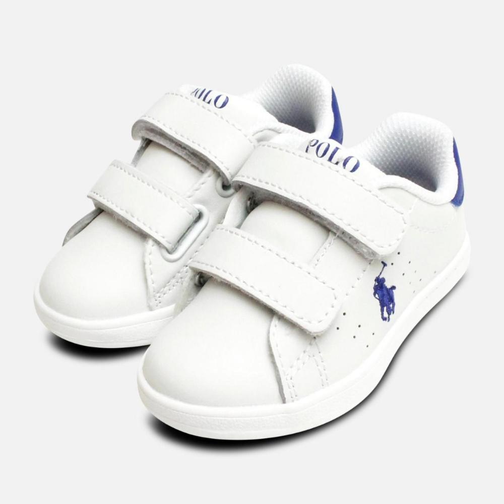 Ralph Lauren Polo White Childrens Shoes