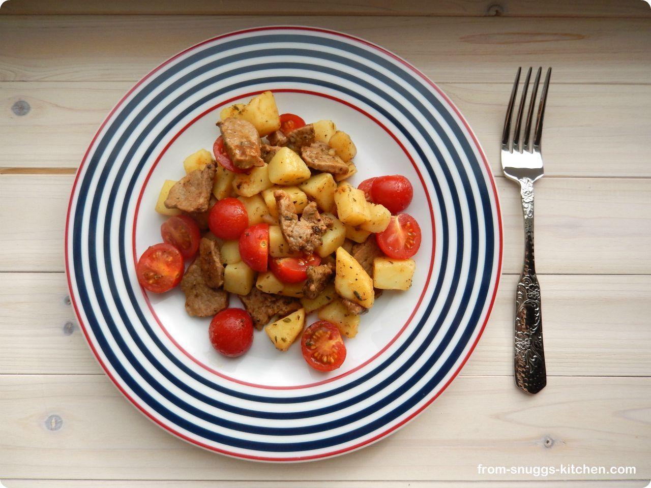 greek potato pan / griechische kartoffel-pfanne