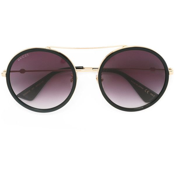 8b67a370875 Gucci Eyewear round frame metal sunglasses (150 BHD) ❤ liked on Polyvore  featuring accessories
