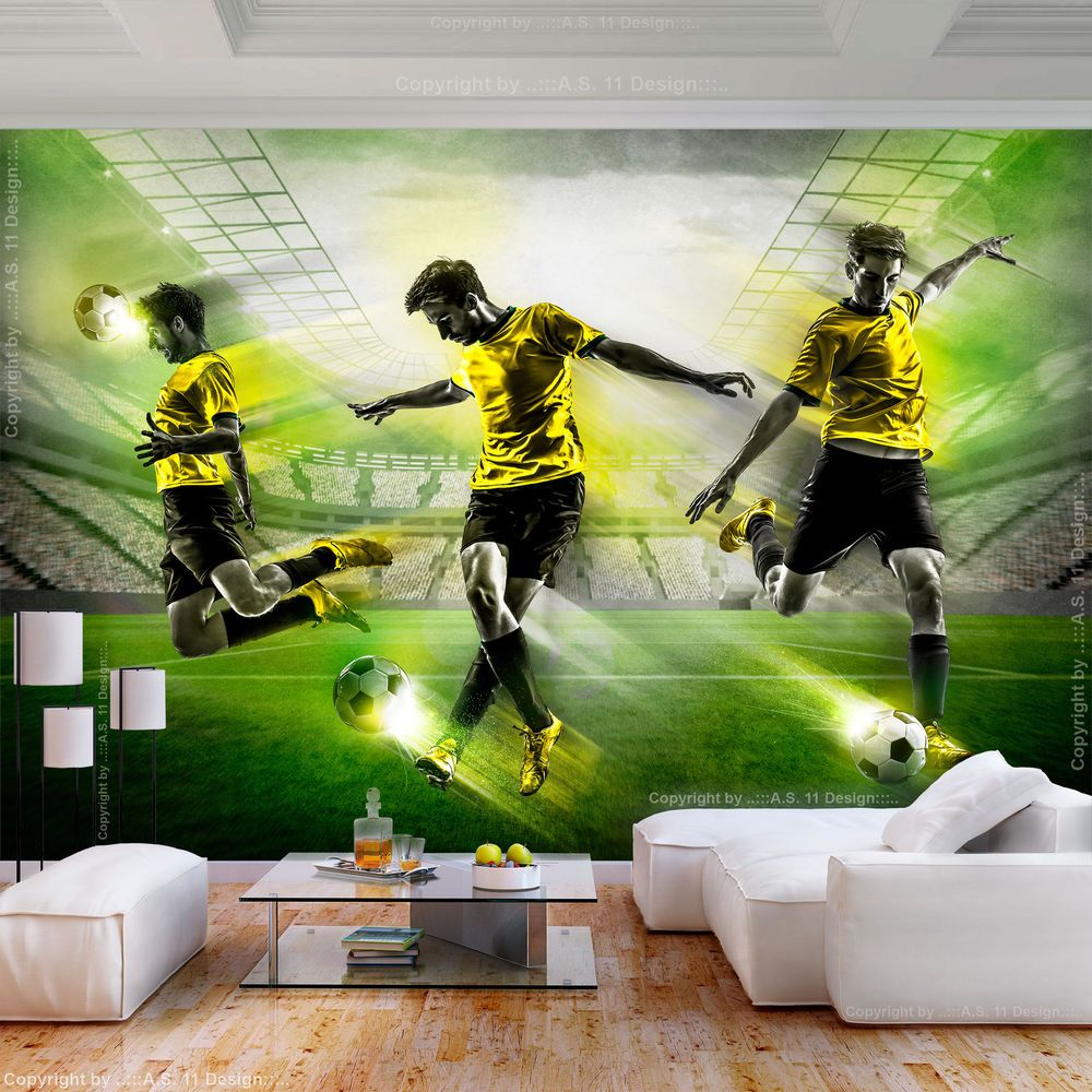 VLIES FOTOTAPETE Fußball Jugendzimmer Fußballplatz TAPETE Kinderzimmer deko