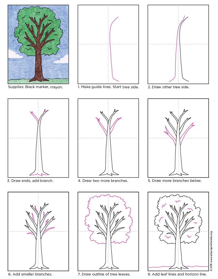 How to draw a tree art lessons drawings and drawing practice how to draw a tree pooptronica Image collections