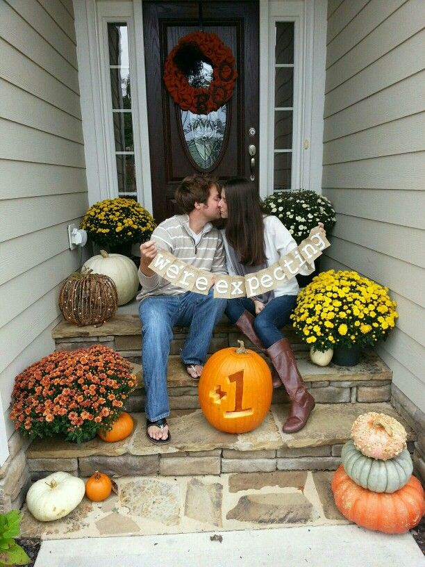 Were Expecting 1 Fall Pregnancy Announcement – Fall Birth Announcements