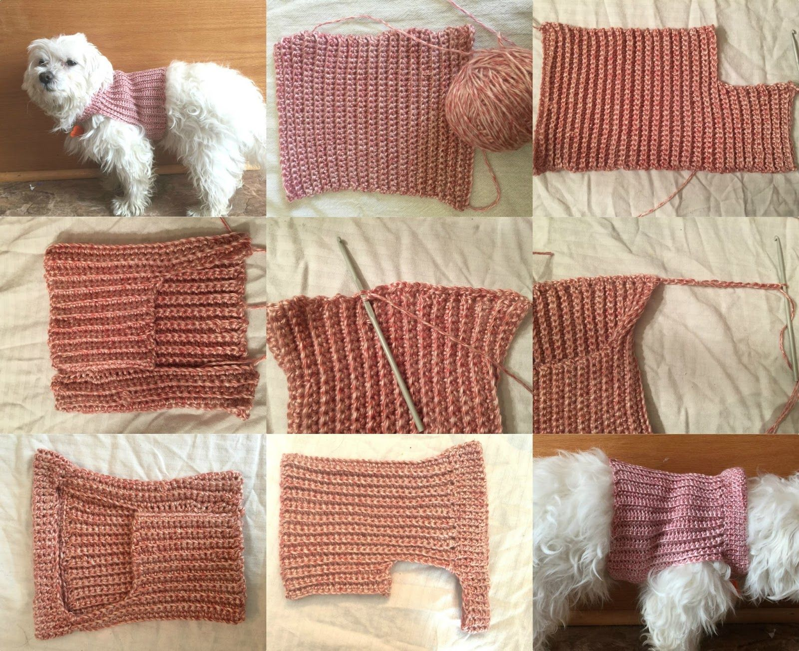 This Crochet Dog Sweater is really simple to make and can be made to ...