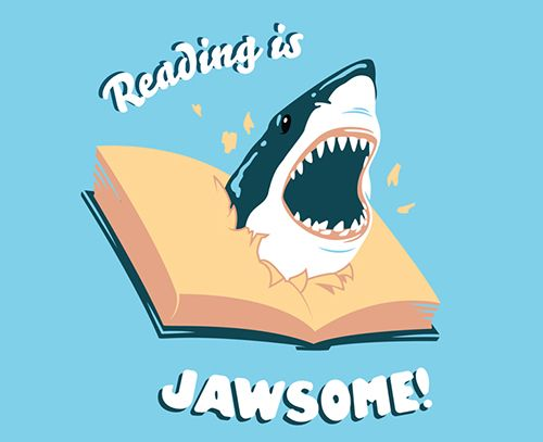"""thelifeofryan: """" My first design here at my new job at BustedTees! Reading is jawsome. You can get the shirt here if you really love it that much, but I don't get any extra money if you do so..."""