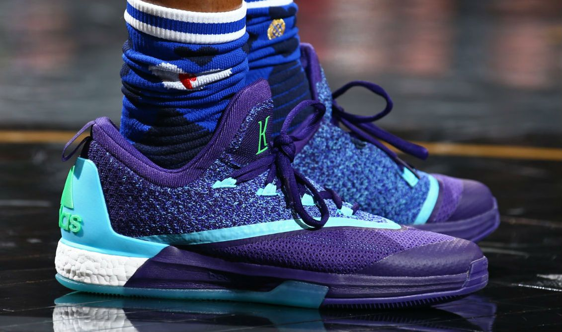 release date 75803 9046c Kyle Lowry Wearing the Aurora Borealis adidas Crazylight Boost 2.5 (2)