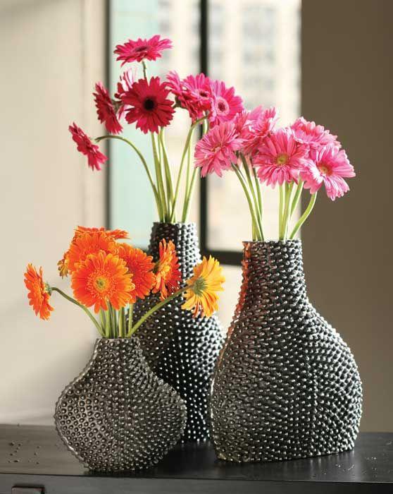 home decorating accessories aluminum vases modern idea beautiful aluminum vases home decore pinterest nice
