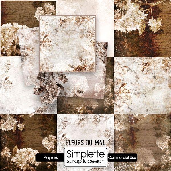 Fleurs du Mal papers by Simplette