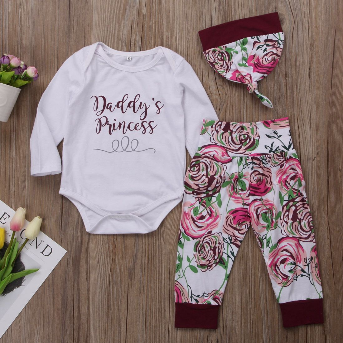 """Infant Baby Girls /""""Daddy/'s Princess/"""" Romper Tops Pants Outfits Summer Clothes UK"""