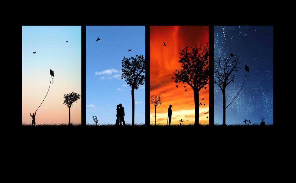 Four Seasons Hd Wallpaper Four Seasons Painting Life Four Seasons