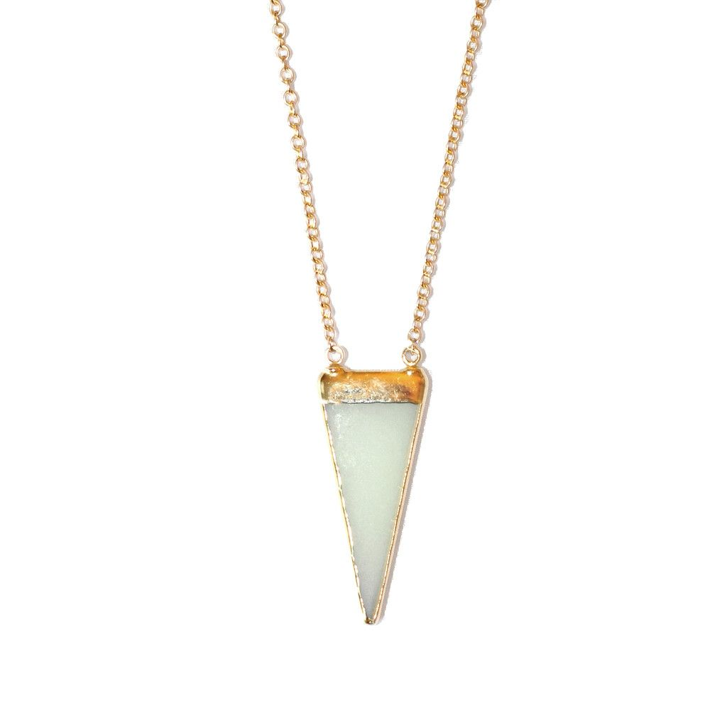 Sea Green Sea Glass Necklace-Wear it with a boyfriend tee and jean shorts. kalakiriot.com