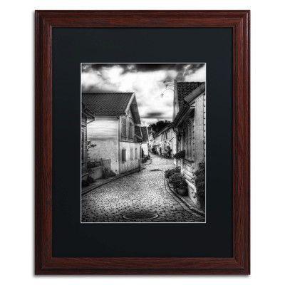 """Trademark Art 'Old Stavanger Part II' by Erik Brede Framed Graphic Art Matte Color: Black, Size: 20"""" H x 16"""" W"""
