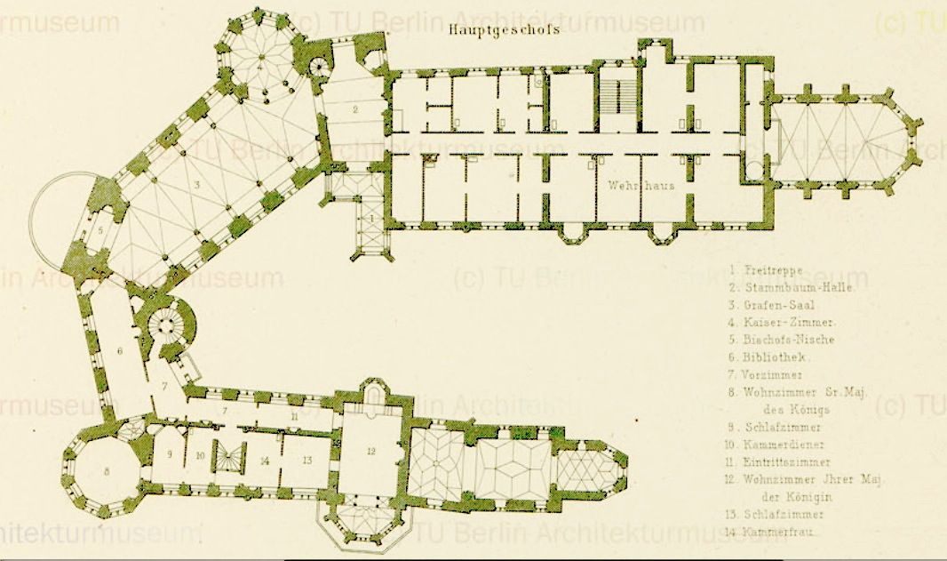 Das Erste Stock First Floor British English Of Burg Hohenzollern In Bisingen Baden Wurttemberg 1 Castle Floor Plan Hohenzollern Castle Germany Palaces