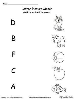 Uppercase Beginning Letter Sound D B F C A Phonics Worksheets