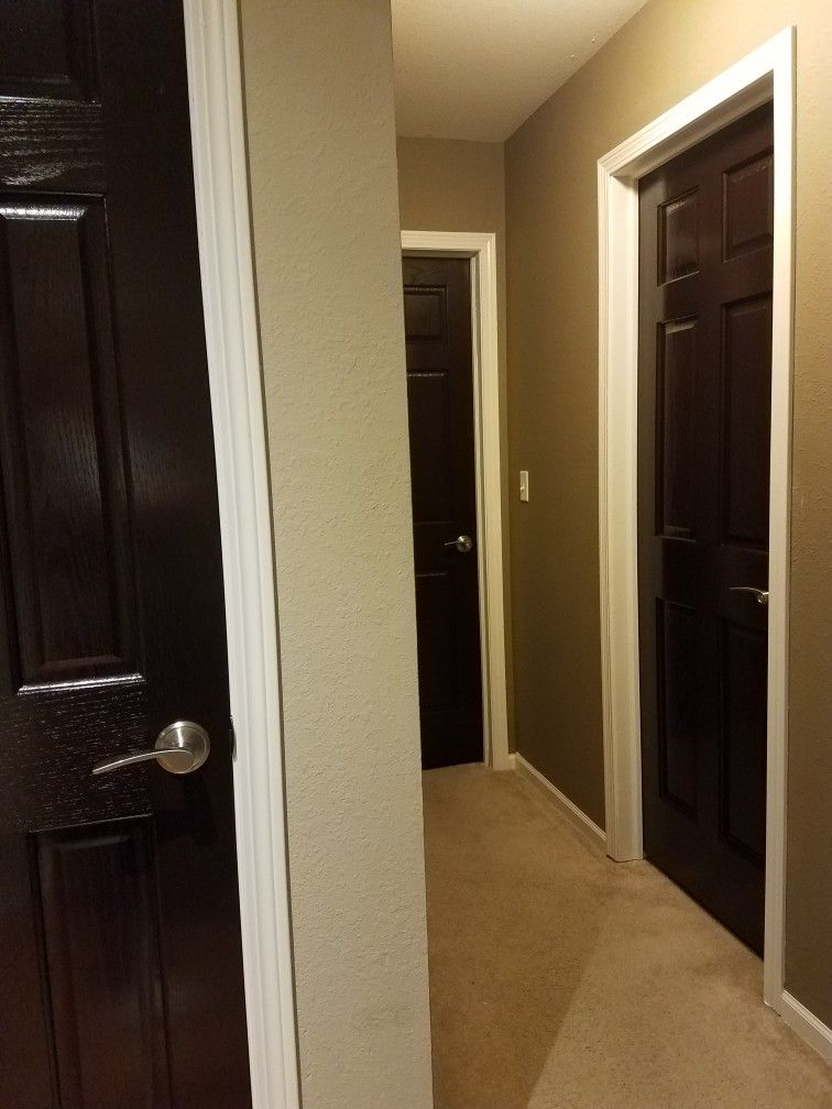 Oak Doors Changed With Gf Java Gel Stain And White Trim Painting The Wood Pinterest Java