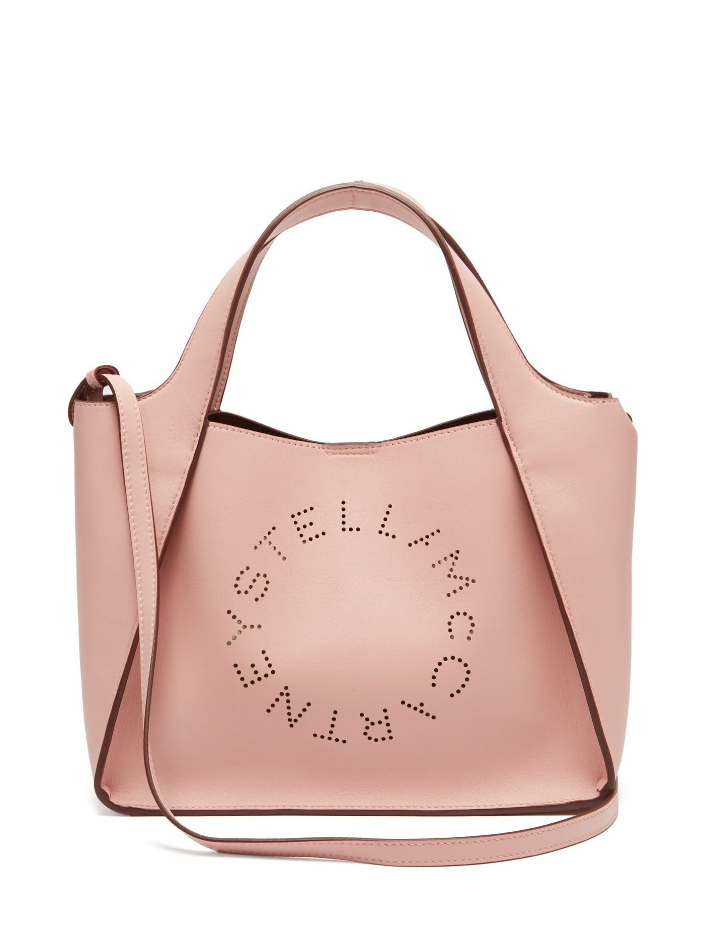 9f57e815864 Stella perforated logo faux-leather tote bag Stella McCartney ...