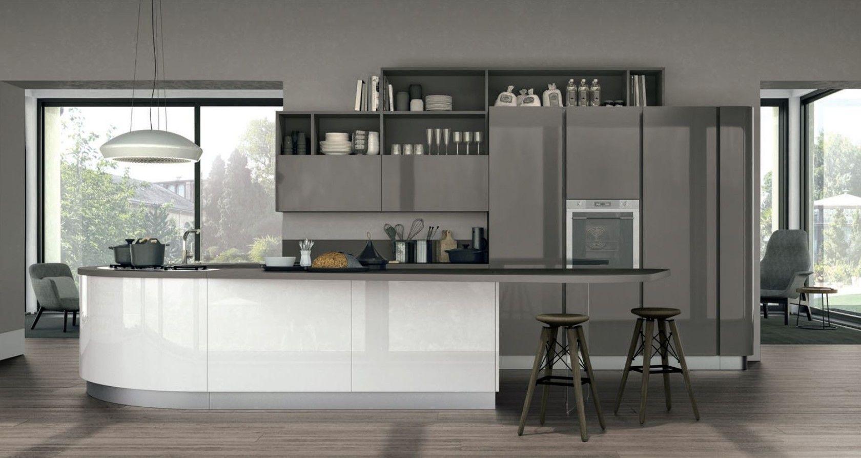 Clover 01 By Cucine Lube Design Studio Ferriani Peninsula Kitchen Design Kitchen Design Modern Kitchen