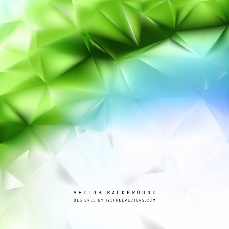 Abstract Blue Green Polygon Triangle Pattern Background