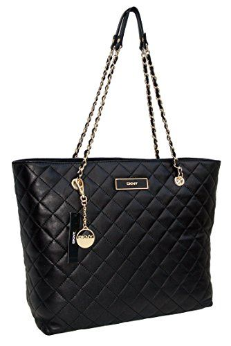 Dkny Handbag Quilted Logo Leather Tote